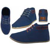 Wholesale Footwear Women's Hi-Top Canvas Shoes ( *Navy Color )