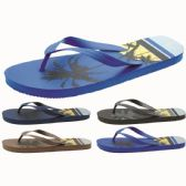 Wholesale Footwear Men's Tropical Printed Flip Flop