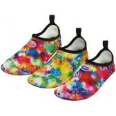 "Wholesale Footwear Women's ""Wave"" Super Soft Elastic Nylon Upper Fantasy Printed Yoga Sock Water Shoes"