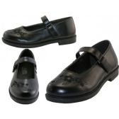 Wholesale Footwear Big Girl's Mary Janes Black School shoe