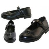Wholesale Footwear Big Girl's Mary Janes Black School Shoe