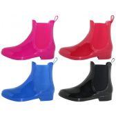 Wholesale Footwear Women's 6.5 Inches Ankle Height Water Proof Solid Color Rubber Rain Boots