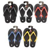 Wholesale Footwear Men's Rubber Thong Colored Strap Flip Flop