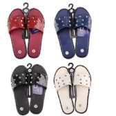 Wholesale Footwear Women's Studded Summer Sandals Slip On Slides