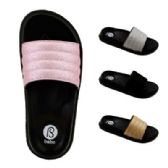 Wholesale Footwear Womens Glitter Slide