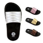 Wholesale Footwear Womens Metallic Band Slide