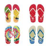 Wholesale Footwear Womens Tye Dye Flip Flops