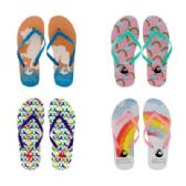 Wholesale Footwear Womens Rainbow Flip Flops