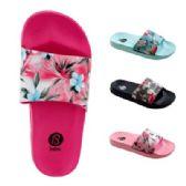 Wholesale Footwear Girls Tropical Flower Slide Sandals