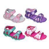 Wholesale Footwear Girls Floral Sport Sandal Mix B