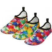 "Wholesale Footwear Women's ""wave"" Super Soft Elastic Nylon Upper Fantasy Printed Yoga Sock Water Shoes ( Asst. Fuchsia, Green & Purple )"