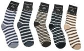 Wholesale Footwear Mens Stripe Color Fuzzy Socks