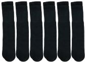 Wholesale Footwear SOCKSNBULK Women's Solid Cotton Tube Socks, Solid Black, Size 9-11