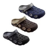 Wholesale Footwear Mens Two Tone Double Layer Garden Clogs