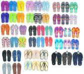 Wholesale Footwear Assorted Womens And Mens Flip Flops BULK Pallet Value Deal