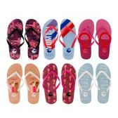 Wholesale Footwear Women's Printed Flip Flops