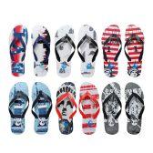 Wholesale Footwear Men's Printed Nyc Printed Flip Flops
