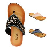 Wholesale Footwear Women's Rhinestone Flip Flop Assorted Color