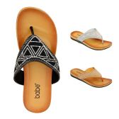 Wholesale Footwear Women's Fashion Rhinestone Flip Flop Assorted Color