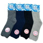 Wholesale Footwear Men's Soft & Cozy Fuzzy Socks [Solid Colors]
