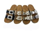 Wholesale Footwear METALLIC STYLE BIRKENSTOCK WOMEN SANDALS IN BLACK