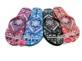 Wholesale Footwear MODERN WOMENS FLIP FLOP WITH POTPOURRI PRINT