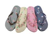 Wholesale Footwear Cute Womens Flip Flops With Flower Print