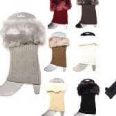 Wholesale Footwear Women Winter Faux Fur Boot Cuff Knitting Leg Warmers Short