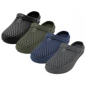 "Wholesale Footwear Men's ""real"" Soft Comfortable Hollow Shoes ( *asst. Black, Navy, Gray & Olive )"