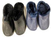 Wholesale Footwear Men's Winter Clogs With Fleece Warm Lining - Assorted Colors