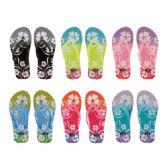 Wholesale Footwear Women's Flower Design Flip Flops