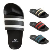 Wholesale Footwear Mens Slide Sandals Assorted Colors