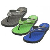 Wholesale Footwear Men's Real Soft Comfortable Sport Thong Sandals
