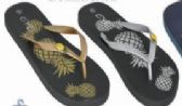 Wholesale Footwear Womens Graphic Print Flip Flop Thong Sandal Beach Pool or Everyday