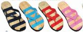 Wholesale Footwear Womens Comfort Thong Style Flip Flops Sandals Striped