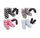 Wholesale Footwear Cozy House Booties Assorted Words Bottom