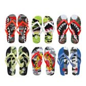 Wholesale Footwear Men's Printed Flip Flops
