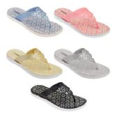 Wholesale Footwear Women's Glitter Sandals In Assorted Color