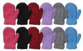 Wholesale Footwear Yacht & Smith Kids Fuzzy Stretch Mittens With Glittery Shine Ages 2-7