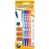 Wholesale Footwear 4 Count 7MM Mechanical Pencil