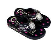 Wholesale Footwear Montana West Fun Novelty Embroidered Collection Flip Flops
