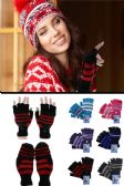 Wholesale Footwear Colorful Knit Convertible Mittens