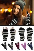 Wholesale Footwear Extra Long Knit Convertible Mittens