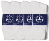 Wholesale Footwear Yacht & Smith Mens Cotton White Crew Socks, Sock Size 10-13