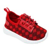 Wholesale Footwear Big Kids Knit Sneaker In Red