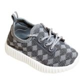 Wholesale Footwear Big Kids Knit Sneaker In Gray