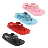 Wholesale Footwear Girls Heart Print Sandals