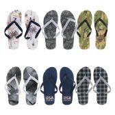 Wholesale Footwear Men's Printed Flip Flop