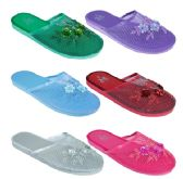 Wholesale Footwear Ladies Solid Color Chinese Slippers Size 6-11