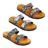 Wholesale Footwear Women's Double Band Snake Sandals